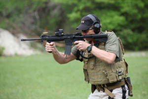 Transitions drill between primary weapon system and secondary weapon system