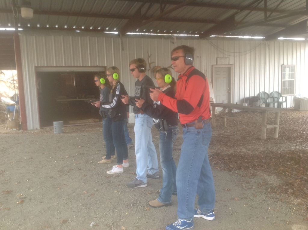 The Brian Walter family building handgun skills